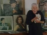 Mr. Van Dyke at his house, Malibu